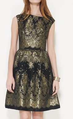 Karen Walker Gold And Black Dress.