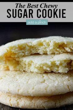Chewy Sugar Cookie Recipe, Soft Sugar Cookies, Crinkle Cookies, Shortbread Cookies, Bakery Style Sugar Cookies Recipe, Quick Cookie Recipes, Best Soft Sugar Cookie Recipe Ever, Raisen Cookies, Shortbread Crust