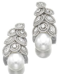 Marie Poutine's Jewels & Royals: Pearl and Diamond Earrings