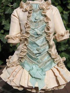 French Silk Doll Dress for Antique Dolls   eBay