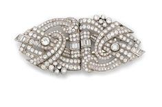 Diamond Double Clip-Brooch