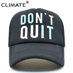 d896e5bcf61 CLIMATE Men Women Summer Mesh Trucker Caps GYM Fitness Fans Black Cool Mesh  Cap