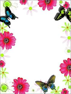flower borders and frames free | ... borders - Image: Colorful Flower frame border - Royalty free stock