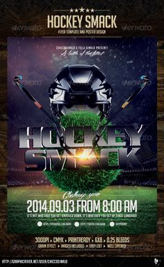 Hockey Smack Flyer Template