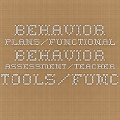 Positive Behavior Support And Functional Behavioral Assessment For