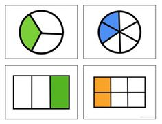 Fraction Smack! (fraction of a whole, fraction of a set, halves, thirds, fourths, 1/2, 1/3, 1/4, equivalent fractions)