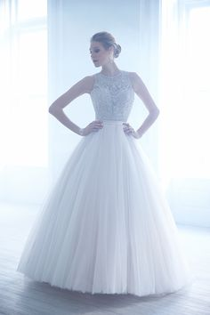 STYLE: MJ170. Madison James Richly embellished Swarovski beading is the highlight of this elegant ballgown.