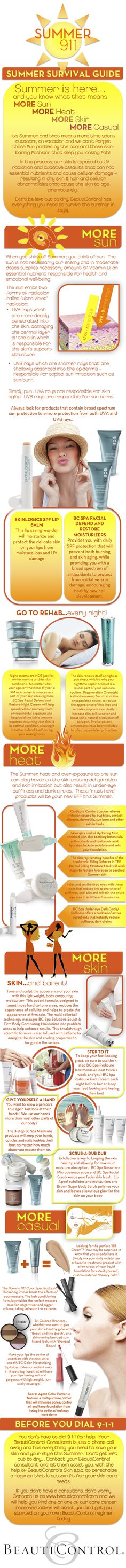 BeautiControl has your guide to surviving the Summer sun and heat.    www.beautipage.com/jeanene