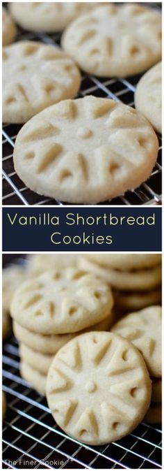 Vanille-Shortbreads - Sweets for my Sweeties - Kekse Hp Sauce, Best Dessert Recipes, Delicious Desserts, Yummy Food, Fun Food, Homemade Cookies, Yummy Cookies, Cookie Desserts, Cookie Recipes