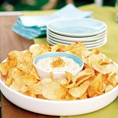If I can find Maui onions Time: 30 minutes, plus chilling time. Make this addictive dip at least an hour ahead of time to let the flavors develop—and serve with. Dip Recipes, Appetizer Recipes, Great Recipes, Snack Recipes, Cooking Recipes, Favorite Recipes, Tasty Snacks, Picnic Recipes, Party Recipes