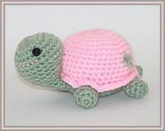Crocheted Turtle Pinkie the Cute Little by CrystalCreates2001, $15.00