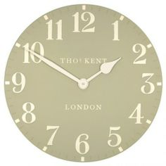 """Stone Ceramic Clock Thomas Kent Clock Available in 6"""", 12"""" and 20"""" www.theroyalgallery.co.uk/index.php?location=item&item=1095&art=Clocks&source=2"""