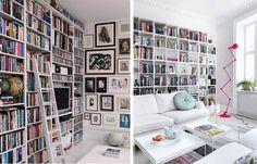 5 maneiras de decorar com Livros • Porta Adentro