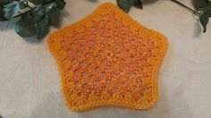 Set of 2 100 Cotton Orange Dishcloths or by TheFlyButterFactory, $5.95