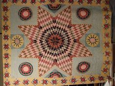 American c. 1800's - Never seen a quilt like this, but very nice.