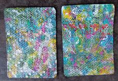 Paper Towel ATCs, from Artist Trading Card Workshop