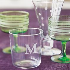 Great gift idea....   Etched Glass and more on MarthaStewart.com.  I have been doing a lot of etched glass presents & everyone loves it....
