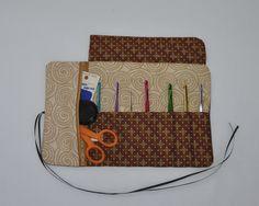 Brown Splash Crochet Equipment Organizer by MillionsofStitches, $20.00 USD #zibbet #craftshout #handmadehour
