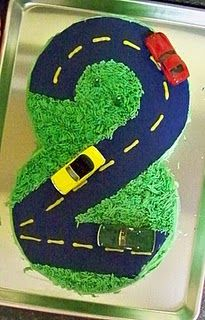 2 year old's car cake. This is going to be THE cake for Gabriel's birthday party.