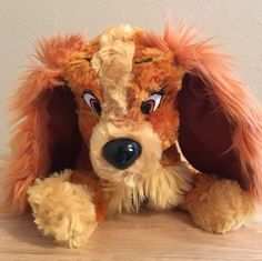 """Disney Lady And The Tramp """"Lady"""" Plush ~ 13"""" ~ Disney Parks Exclusive"""