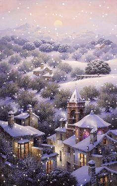 Snow scene - beautiful