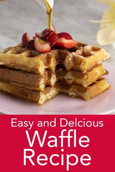 This easy to make and DELICIOUS waffle recipe from Preppy Kitchen makes the most crisp, light, and tender waffles imaginable. Try freezing the extras for an instant treat later! Perfect for your next holiday breakfast or brunch. Easy Waffle Recipe, Waffle Maker Recipes, Delicious Breakfast Recipes, Brunch Recipes, Dessert Recipes, Desserts, Churros, Frozen Waffles, Best Blueberry Muffins