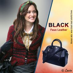 Created by #Lavin  Want to get a Beautiful Black Faux Leather #Handbag? Order Now!  Shop here by Visit our website.