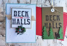 Make beautiful cards or tags using the new Carols of Christmas bundle. #stampinup #carolsofchristmas