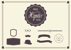 These FREE clip-art vector elements will work wonderfully on your fashion blog, if you're into hipster style!