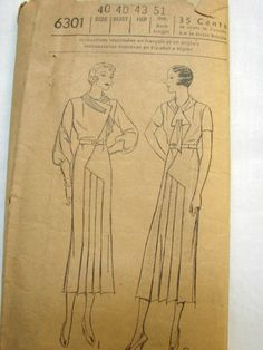 Pictorial Review 6301 | 1930s Misses' Dress