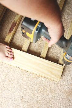 DIY How to build your own Deck Stair Gate Floor... Mom can do this! :)