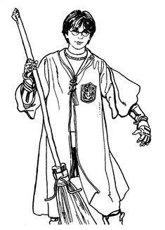 Coloriage à imprimer : Personnages célèbres - Harry Potter numéro 1646