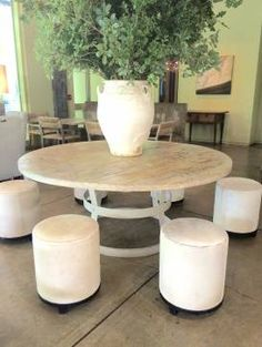 Cage Base Steel and Reclaimed Wood Dining Table - Mecox Gardens
