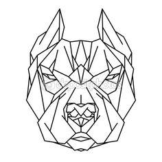 Ícone de cabeça cachorro Pitbull — Ilustração de Stock #110161268