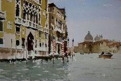 Palazzo Cavallo Franchetti - John Yardley (English, b. 1933)