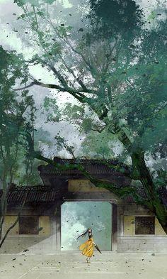 灵隐寺 by 伊吹鸡腿子 on Weibo