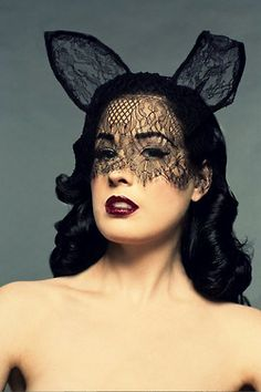 Dita Von Tease black lace cat mask - If I wear it will I turn into Dita Von Tease? Can this happen please?