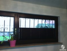 Sichtschutz Plissees von sensuna® in Braun  sensuna® pleated blinds in brown