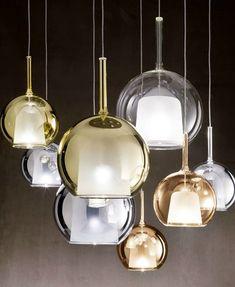 Pyrex® pendant #lamp GLO by Penta | #design Carlo Colombo