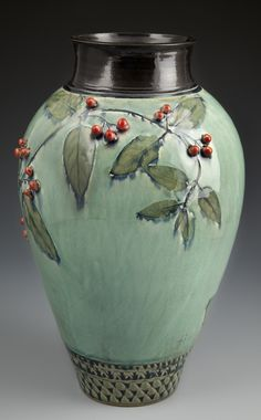 Vase-with-Red-Berries-by-Suzanne-Crane-Fine-Stoneware-at-CustomMade.com_.jpg (745×1200)
