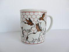 Vintage Takahashi Bunny Rabbit Mug Hare Coffee Mug by OldLikeUs, $9.00