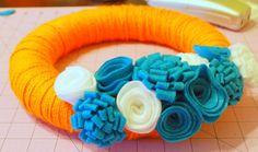 Yarn Wreath Tutorial from Angel Face Designs - Thirty Handmade Days