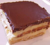 Eclair cake- from scratch and not-from-scratch