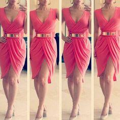 Vestido color salmon.. hermoso Söta Klänningar 5dd0e09ccecb2