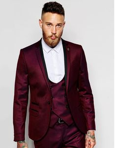 Cheap wedding suit, Buy Quality wedding suits for men directly from China  business men suit Suppliers: 3 Pieces Fashion Wine Mens Suit ...