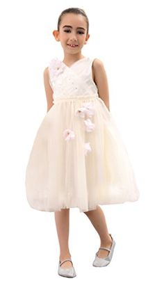 80ece6bda22 Bow Dream Flower Girl s Dress Tulle Ivory With Blush Pink Flowers 4 Bow  Dream http