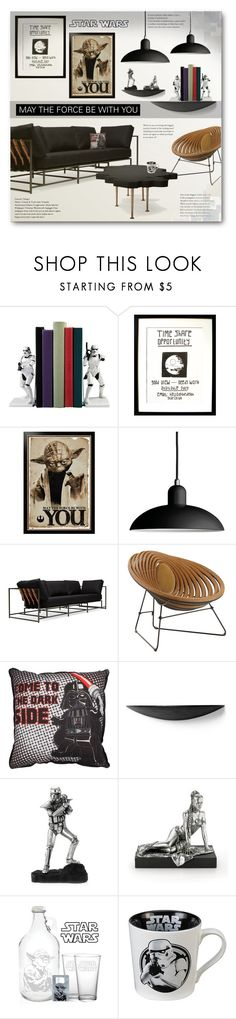"""""""Star Wars"""" by anitadz ❤ liked on Polyvore featuring interior, interiors, interior design, home, home decor, interior decorating, Stephen Kenn, Squarefeathers, Lego and Christopher Guy"""