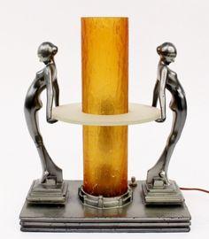 Art Deco Lamp Frankart Figural