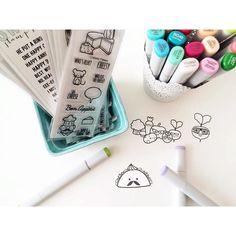 Designer Thanh Vo is coloring Sweet Stamp Shop Veggin and Give 'Em Tacos stamp sets