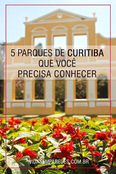 Conheça os principais parques de Curitiba: Jardim Botânico, Parque Barigui, Parque Tangá, Parque Tingui e Bosque Alemão.